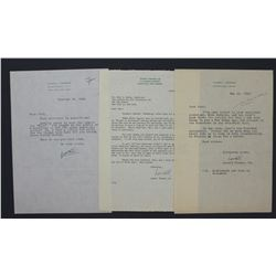 Lowell Thomas and Two Lowell Thomas Jr. Typed Letters Signed; d. 1954-55-56