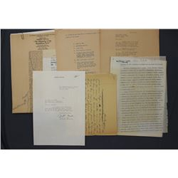 Lot of Herbert Hoover & San Francisco Chronicle Original Press Releases, Confidential Notes, etc.