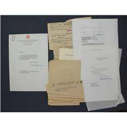 """Two Herbert Hoover Letters Signed """"Herbert Hoover"""", ea. One Page 10 1/2"""" x 7 1/4""""; 1955"""
