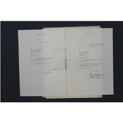 Selection Herbert Hoover and Paul Smith-related Letters and Carbon Copies etc.