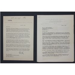 Sylvester L. Weaver, Jr. (NBC) & Gardner  Mike  Cowles (LOOK) Letters Signed 1954-1955