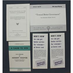 Selection of Herbert Hoover and Hoover Commission Related Publications
