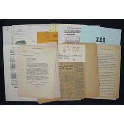 Lot of Paul C. Smith and San Francisco Chronicle-related Ephemera, Photographs, Letters etc.