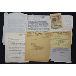 Lot of Paul C. Smith and San Francisco Chronicle-related Ephemera, Letters, etc.