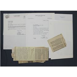 Lot of Paul C. Smith-related and Ephemera and Letters