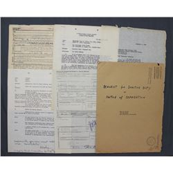 """Chester Nimitz Typed Letter Signed """"C.W. Nimitz"""" and Misc. USNR Documentation, Oct. 21 1945"""