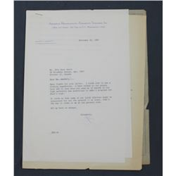 "Two James C. Hagerty Letters Signed ""Jim"" as Paramount Vice-President; ea. 10 1/2"" x 7 1/4""; 1965"
