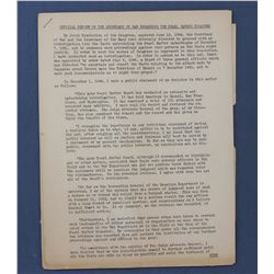 Official Report of the Secretary of War Regarding the Pearl Harbor Disaster, publ. 1944