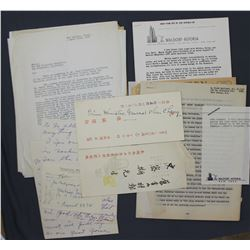 Lot of Paul C. Smith-related Ephemera and Letters incl. Autographs, etc.