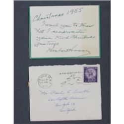 Herbert Hoover Christmas Card to Mr. Paul C. Smith, Dec. 1955