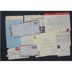 Lot of Paul C. Smith-related Ephemera and Letters incl. Mrs. W.R. Hearst Dinner Invitation etc.