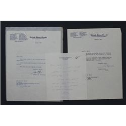 "Prescott Bush & W.F. Knowland Letters as Senators; ea. One page, 10 1/2"" x 8"", June-July 1955"