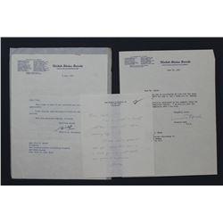 Prescott Bush & W.F. Knowland Letters as Senators; ea. One page, 10 1/2  x 8 , June-July 1955