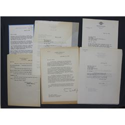 Lot of Political Letters Autographed, incl. General Holland M. Smith, ex. coll. P.C. Smith