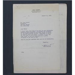 """Maria Rasputin Letter Signed """"Maria G. Rasputin""""; One page, 11"""" x 8 1/2"""", Aug. 8, 1953"""