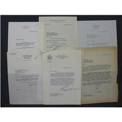 Lot of Letters incl. Signed David Sarnoff, A. C. Wedemeyer, Harold Stassen etc.