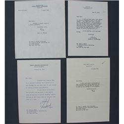 Lot of Letters incl. Signed Lewis L. Strauss, Nelson A. Rockefeller, Harold E. Stassen etc.