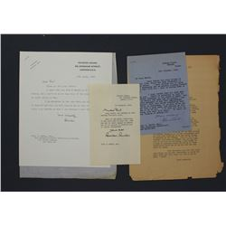 Two Brendan Bracken Signed Letters (1945 & 1955) and One Sir Robert Vansittart (1946)