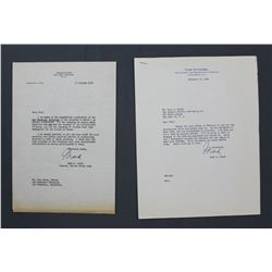 """Four Mark W. Clark Letters Signed """"Mark"""" as General, United States Army; 1952-1954."""