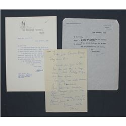 "Three Lord Beaverbrook Letters Signed ""Max""; Each One page, November-December 1955"