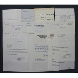 Lot of 10 Congressional, Senatorial, Secretarial Signed Letters to Paul C. Smith; all August 1955