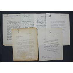 Lot of Letters re: San Francisco Chronicle etc. incl. Signed Gen. A.F. Lorenzen, etc.