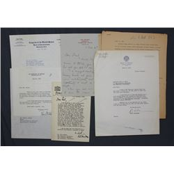 Lot of Letters incl. Signed Robert A. Lovett, Clair Engle, Richard L. Neuberger, etc.