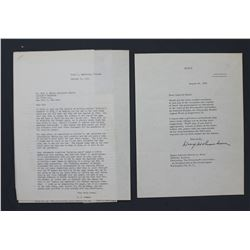 Two Dwight Eisenhower-related Documents; One Printed Letter and another, Both ex-P. C. Smith Coll.