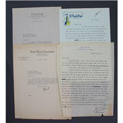 Lot of Letters incl. Signed Lucius Beebe, Frank H. Bartholomew, Ernest K. Lindley, etc.