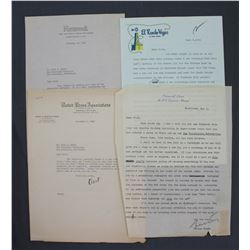 Lot of Letters incl. Signed Lucius Beebe, Frank H. Bartholomew, Ernest K. Lindley, etc.