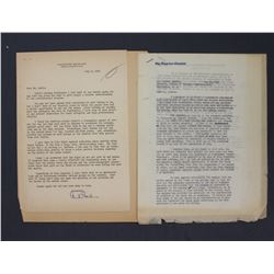 """Two Chester Bowles Typed Letters Signed """"Chester Bowles""""; re: Postwar Stabilization"""