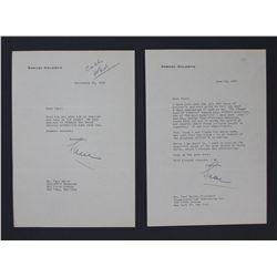 """Two Samuel Goldwyn Letters Signed """"Sam"""" as Samuel Goldwyn Productions, Sept. 1953 & June 1955"""
