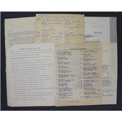Lot of Letters incl. Signed Oveta Culp Hobby, Milton S. Eisenhower, Christian A. Herter, etc.