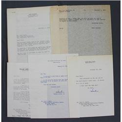 Lot of Letters incl. Signed Herbert Hoover Jr., Ogden R. Reid, Drew Pearson, etc.