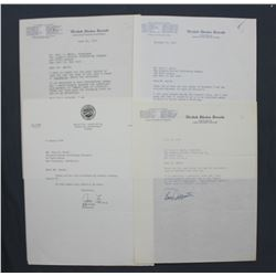 Lot of 4 Congressional and American Political Signed Letters to Paul C. Smith, 1955-1956