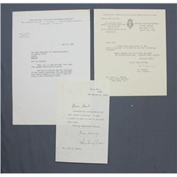 """Anthony Eden Letter Signed as Foreign Secretary. One page, 7 1/2"""" x 4 3/4""""; Dec. 7, 1951 & Others"""