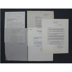 Lot of Letters incl. Signed Charles A. Willoughby, Lenore Coffee, James H. Duff, etc.
