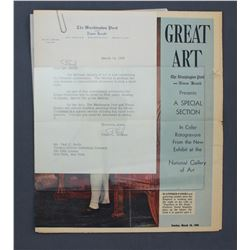 """Philip L. Graham Letter Signed """"Phil"""" as Washington Post Publisher. One page; Mar. 14, 1956"""