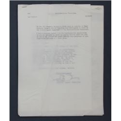 Lot of American-Korean Foundation Letters incl. Signed Edgar M. Queeny Letters etc. 1956