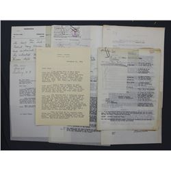 Lot of Lowell Thomas Memorabilia, Signed Letters etc. and Original Photograph, ex. P. C. Smith Coll.