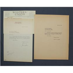 """James Roosevelt Letter Signed on Personal Letterhead. One page, 10 1/2"""" x 7 1/4""""; March 10, 1952"""