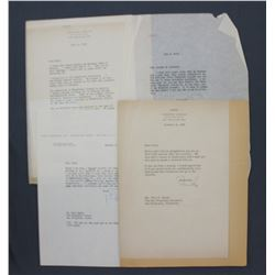 """Two Gardner """"Mike"""" Cowles and Two Fleur Cowles Typed Letters Signed; Political Commentary"""