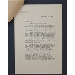 """Edward L. Bernays Letter Signed """"Edward"""" on Personal Letterhead; Two Pages, September 20, 1946"""