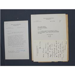 Three William O. Douglas Letters as Associate Justice of the Supreme Court; 1946-1951