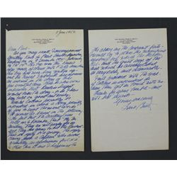 Frank E. Beatty Autograph Letter Signed. Three pages (recto and verso) Addressed to Paul C. Smith