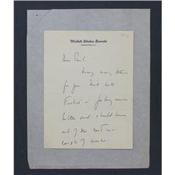 "John F. Kennedy Handwritten Letter as U.S. Senator. Three pages, 8 1/8"" x 6 1/8""; January 2, 1956"