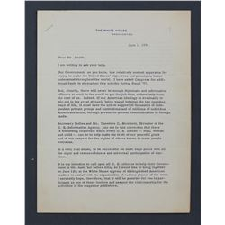 "Dwight D. Eisenhower Letter Signed as President. Two pages, 10 1/2"" x 8""; June 1, 1956"