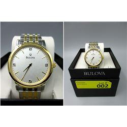 New in Box Men's Bulova Diamond 2-Tone Watch