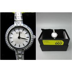 New in Box Ladies Swarovski Crystal Bulova Watch