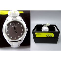 New in Box Bulova 11 Diamond Ladies Watch